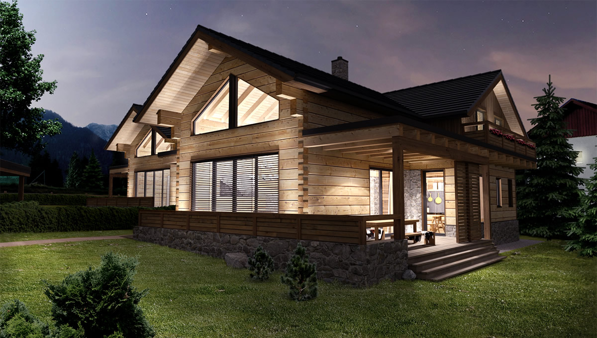 Blockhaus aus massivholz
